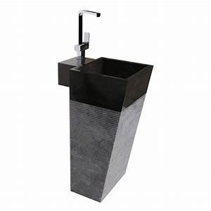 Waschbecken Zum Aufsetzen : marmor waschtisch s ule mo 018 40 cm schwarz bei wohnfreuden kaufen ~ Markanthonyermac.com Haus und Dekorationen