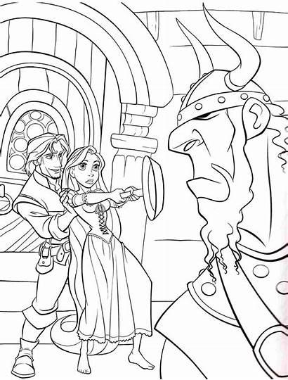Rapunzel Coloring Tangled Disney Raiponce Princess Coloriage