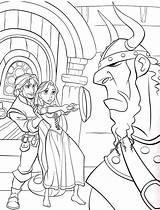 Rapunzel Coloring Disney Coloriage Princess Tangled Raiponce Flynn Ausmalbilder Dessin Sheets Kleurplaat Courageuse Poele Est Colouring Printable Toren Imprimer Bathroom sketch template