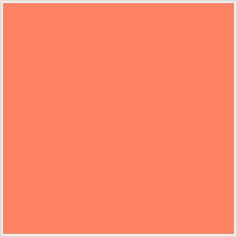 ff8362 hex color rgb 255 131 98 coral orange