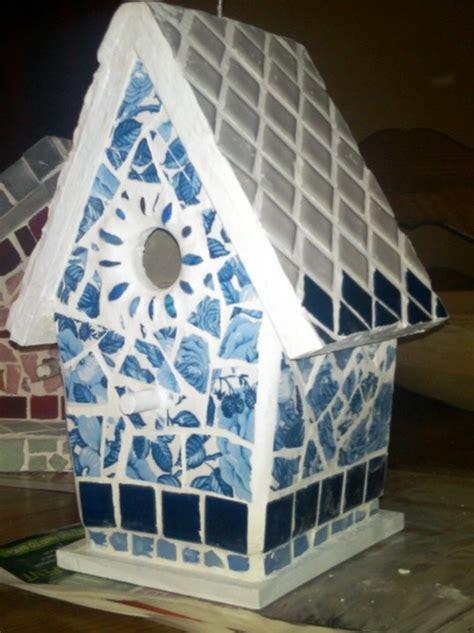 images  mosaic birdhouses  pinterest