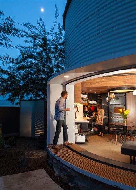grain silo converted   cozy  square foot small house idesignarch interior design