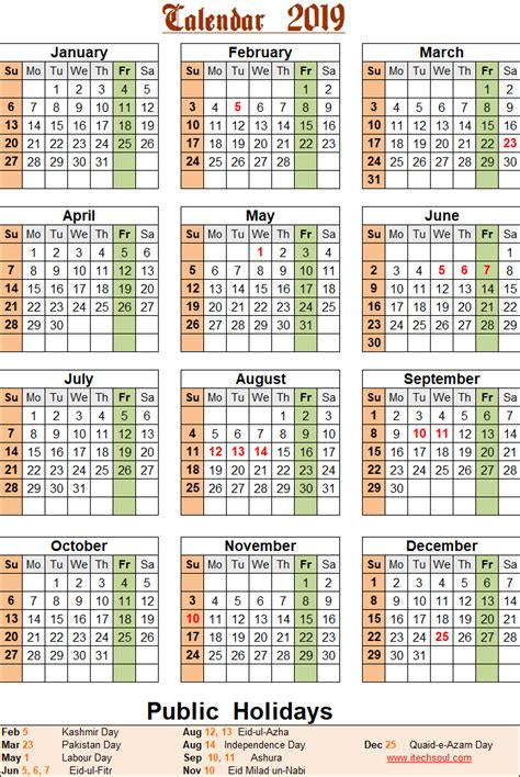 colorized black white printable calendar
