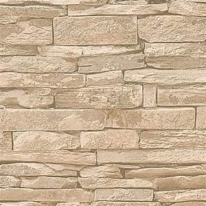 Tapete Steinoptik 3d : my look vliestapete nature beige steinoptik 10 05 x 0 53 m 6190 vliestapeten hbdc ~ Frokenaadalensverden.com Haus und Dekorationen
