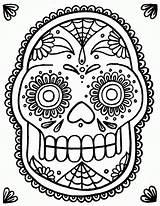Coloring Skull Sugar Popular sketch template