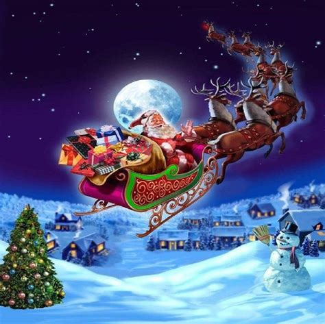 Animated Santa Wallpaper - reindeer and sleigh wallpapers wallpaper cave