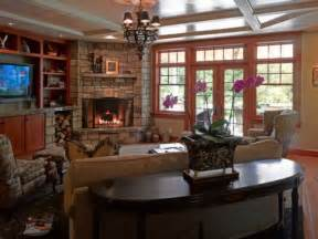 corner fireplace family room photos interior design ideas