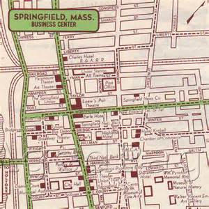 items similar to springfield massachusetts 1951 us city map vintage 1951 print atlas
