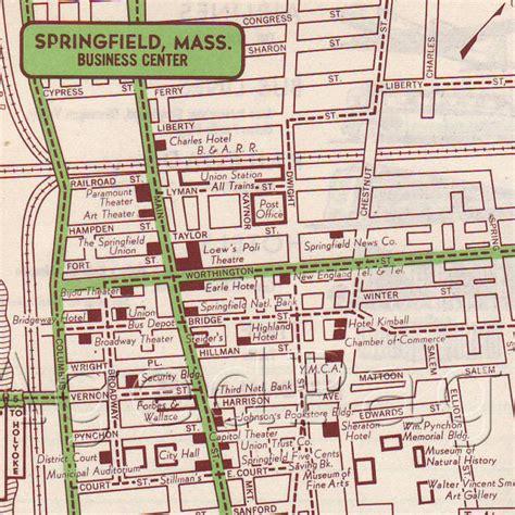 decor state springfield ma items similar to springfield massachusetts 1951 us city