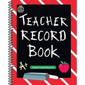 Chalkboard Teacher Record Book - TCR2119 Teacher Created