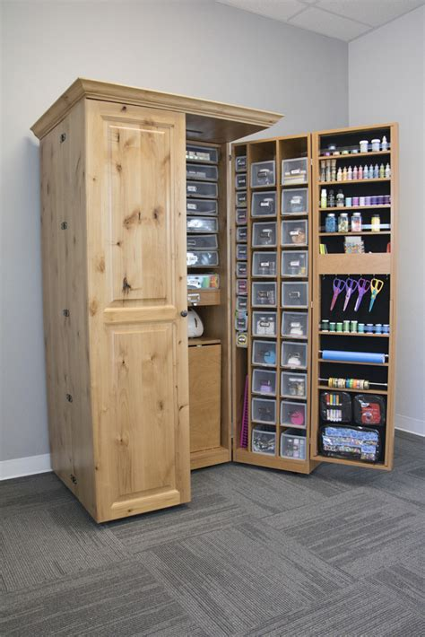 craft room storage cabinets have all your supplies in one place dream craft room