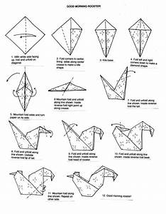 Origami Rooster Instructions