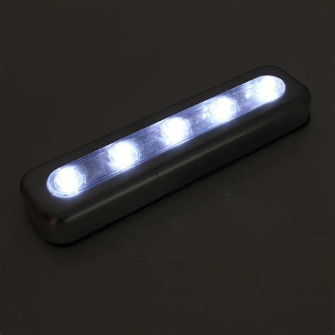Tap Lights 5 LED Self Stick Under Cabinet Push Night Light