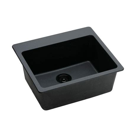 black single bowl kitchen sink elkay quartz classic drop in quartz composite 25 in 7902