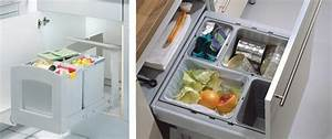 Poubelle Cuisine Sous Evier : comment choisir ses tiroirs de cuisine arcitech ~ Carolinahurricanesstore.com Idées de Décoration