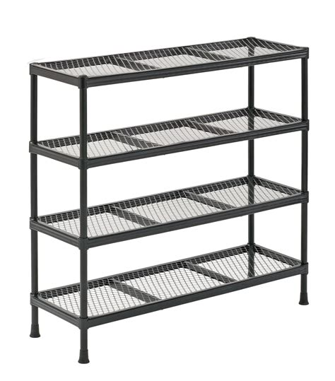 Metal Storage Shelves by 4 Tier Metal Shelving Shelf Rack Garage Office Kitchen