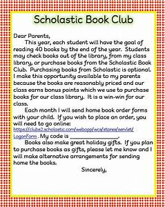 August 2012 teach123 for Scholastic book letter to parents