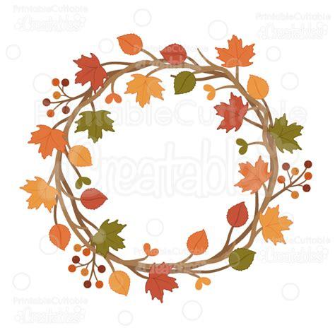 High Resolution Fall Foliage Pictures Autumn Wreath Svg Cuttable Clipart Cut File For Silhouette Cricut