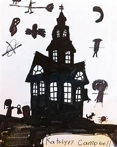 Sacred Heart art room: Silhouette haunted house