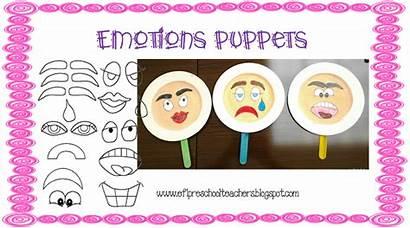 Preschool Emotions Feelings Paper Face Efl Teachers