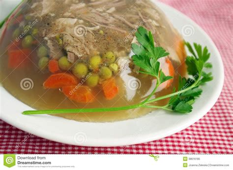aspic cuisine cuisine pork aspic stock image image of dish
