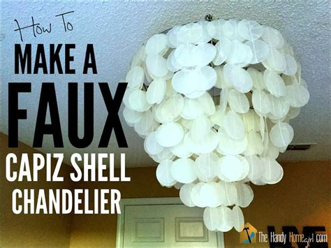 How To Make Chandelier by How To Make A Faux Capiz Shell Chandelier I Ep 02