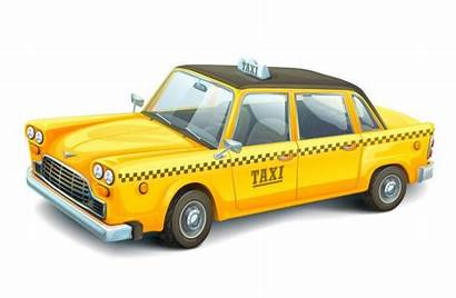 Taxi Cab Yellow Background York Vector Illustration