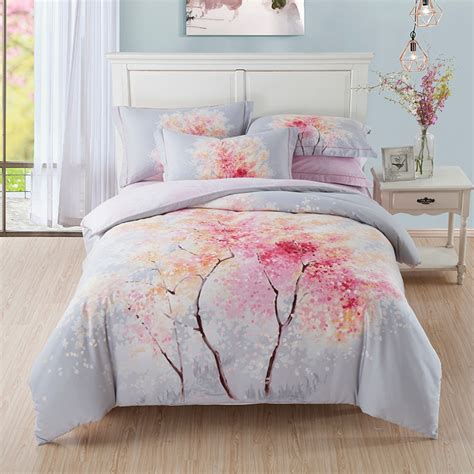 cherry blossom tree bedding king size bed sheets