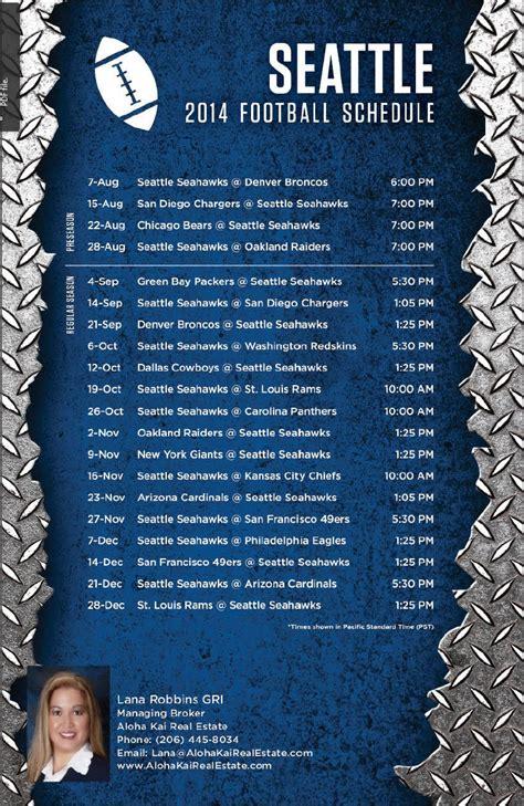 seattle seahawks  football schedule archives aloha