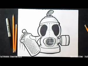 comment dessiner masque anti gaz spraycan graffiti youtube With bombe de peinture graffiti