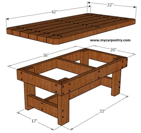 how to build a coffee table coffee table plans