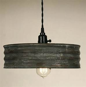 Vintage rustic primitive industrial sifter pendant light