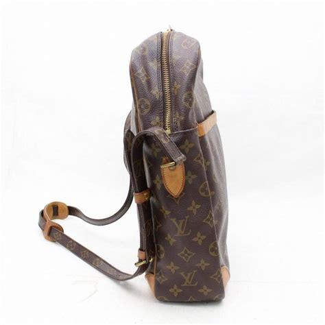 louis vuitton danube extra large gm  brown coated canvas shoulder bag  sale  stdibs
