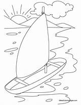 Coloring Yacht Sheets Popular sketch template