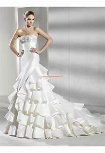 Robe De Mariee Sirene : robe de mari e sir ne volants broderie robe de mari e ~ Melissatoandfro.com Idées de Décoration