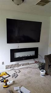 diy airstone veneer stone accent wall hometalk With kitchen cabinets lowes with rock band wall art