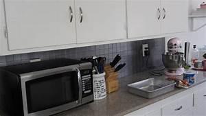 Paint a kitchen tile backsplash diy home guidecentral for How to make a backsplash with paint