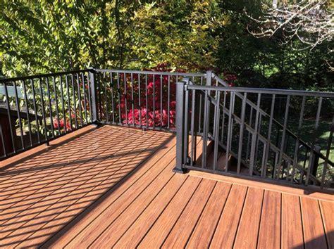 havana gold trex deck  aluminum railing deck masters llc