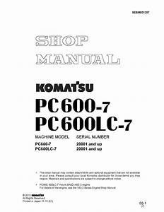 Komatsu Hydraulic Excavator Pc600