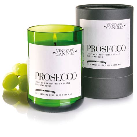 candel wax vineyard candles soy wax scented candle prosecco