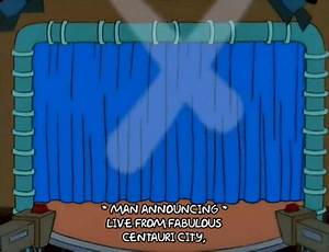 Presenting the simpsons gif find share on giphy for Theatre curtains gif