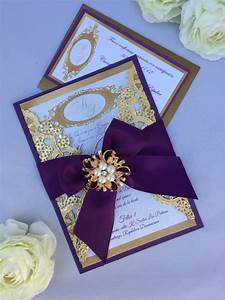 gold and purple wedding invitation wedding by With wedding invitations in gold color