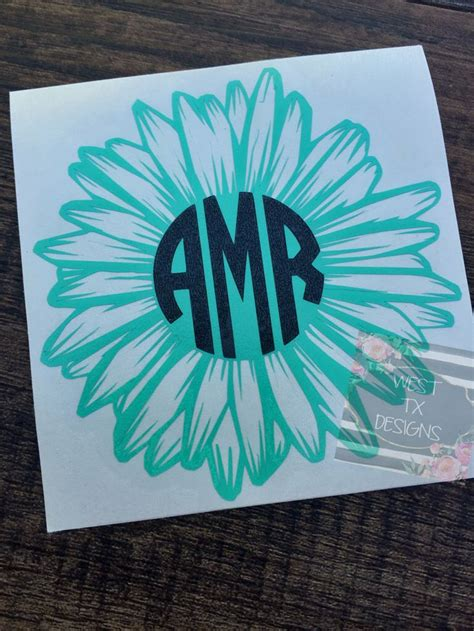 gerbera daisy gerbera daisy decal flower decal flower monogram gerbera daisy monogram