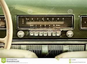 Retro Styled Image Of An Old Car Radio Stock Image - Image ...