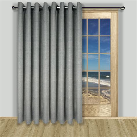 lined grommet patio panel in 3 colors of grasscloth