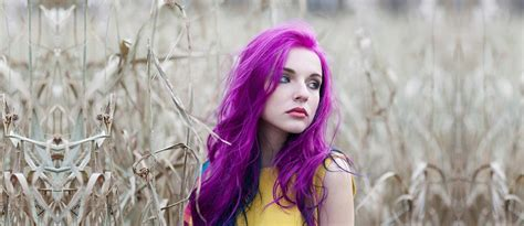 cool ideas  purple ombre hair