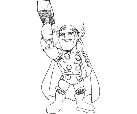 cute little thor coloring page coloring pages super