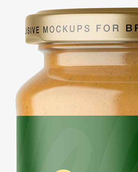 More great & free psd mockups collection Clear Glass Jar with Peanut Butter Mockup in Jar Mockups ...