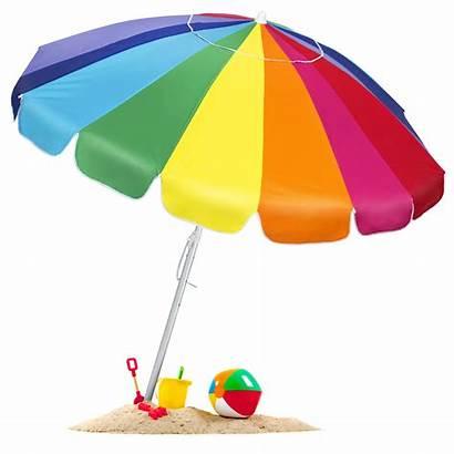 Umbrella Beach Rainbow Clipart Sand Anchor Carrying