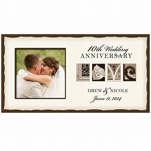 personalized wedding love photo frame 10thwedding With wedding anniversary photo frames